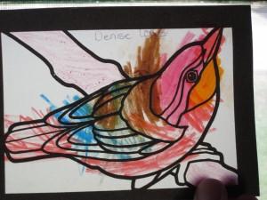 'Stained Glass' Bird Art